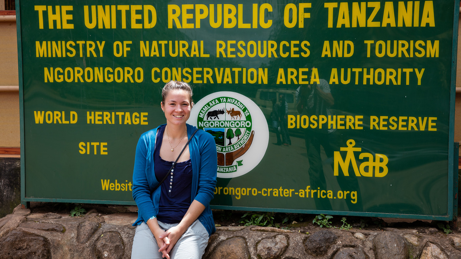 In front of the entrance to Ngorongoro conservation area.