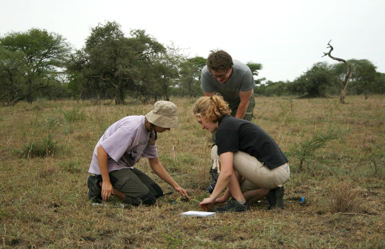 Anders, Marit and Ragnhild working on a plot in Handajega gate, February.